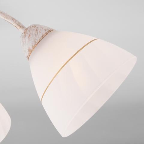 Потолочная люстра с плафонами 30156/5 белый с золотом