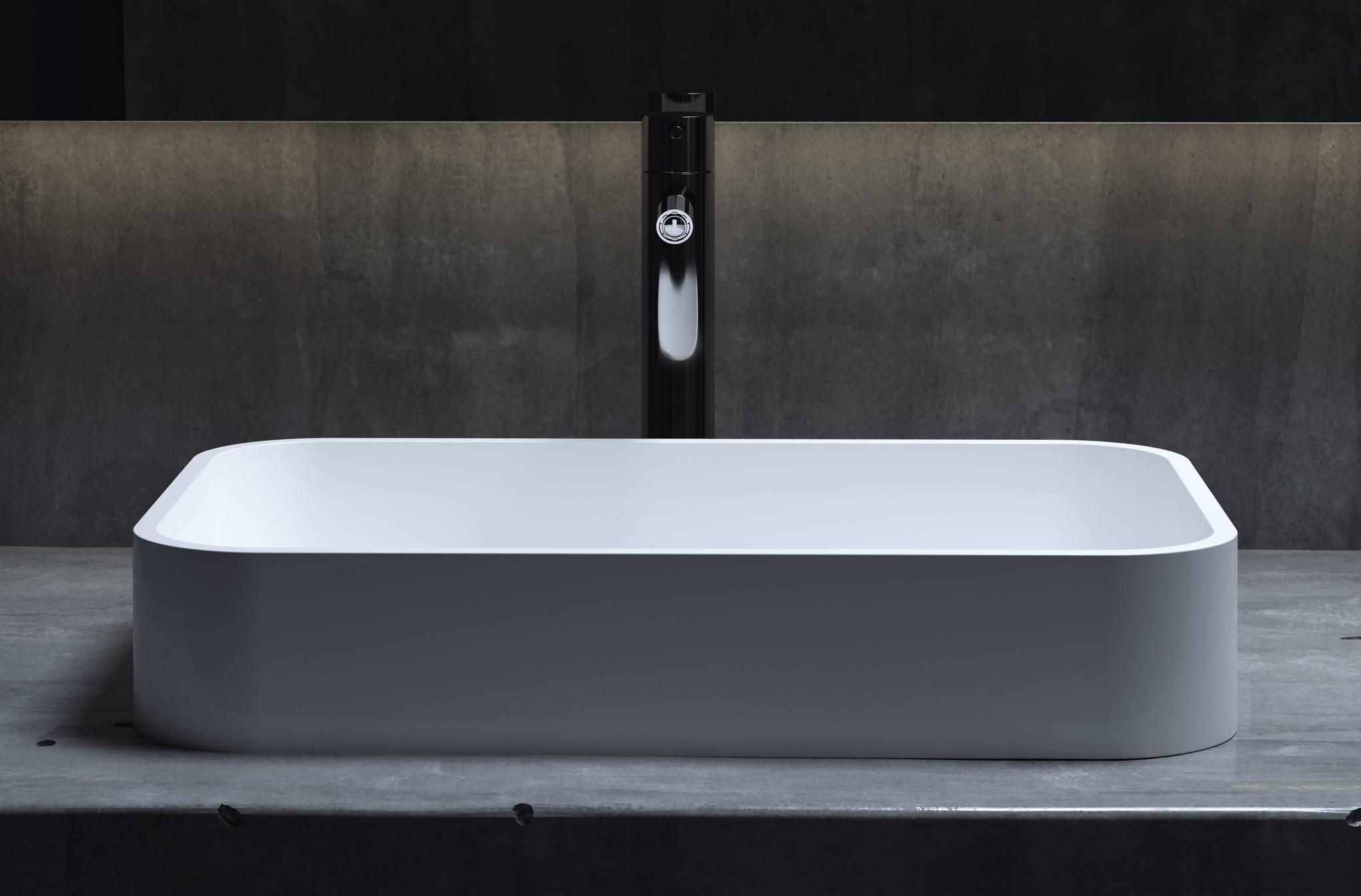 Накладная раковина из камня CALLISTA 104  S-Sense (SAPIRIT)  ГЛЯНЕЦ 545х350х100 мм