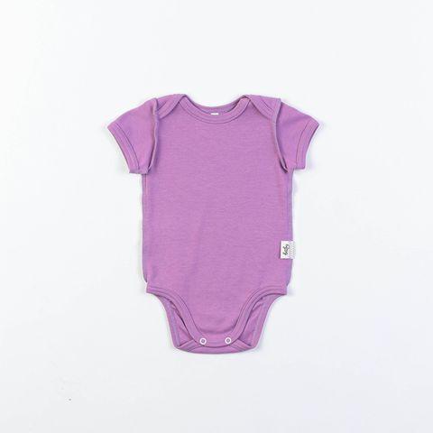 Short-sleeved bodysuit 0+, Lilac