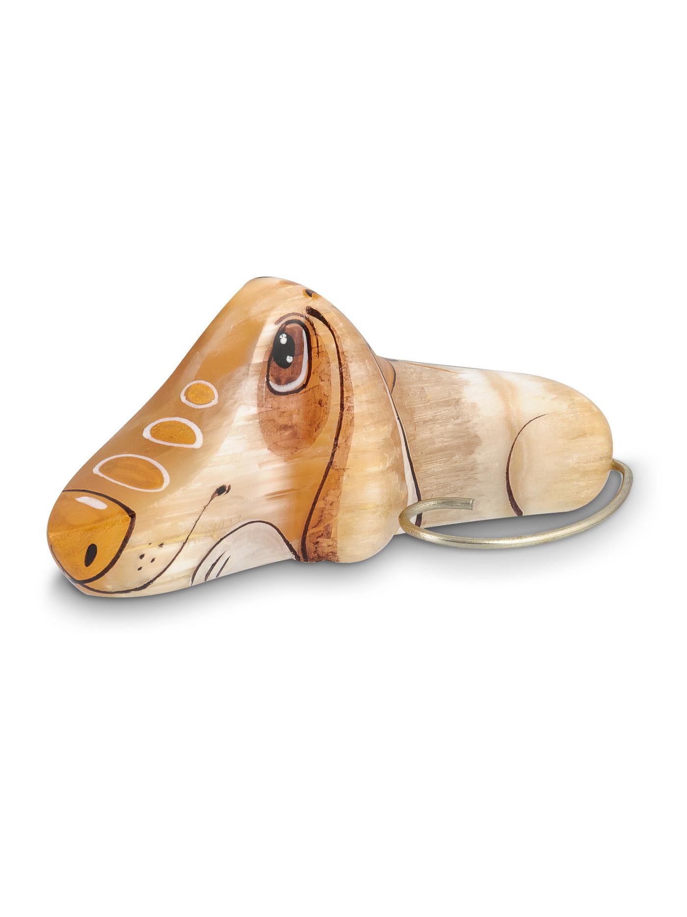 Собака Такса из натурального селенита