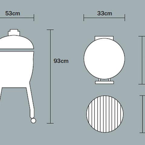 Керамический гриль Monolith Junior Pro-Series 2.0 Black