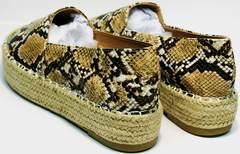 Летние женские туфли Lily shoes Q38snake.