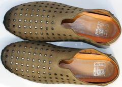 Мужские мокасины летние стиль smart casual Luciano Bellini 107703 Beige.
