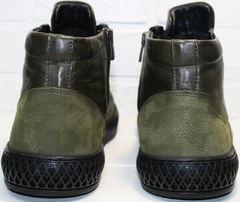 Стильные мужские зимние ботинки без каблука Luciano Bellini BC2803 TL Khaki.