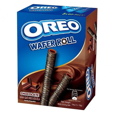 Печенье Oreo Wafer Roll Choco,54гр