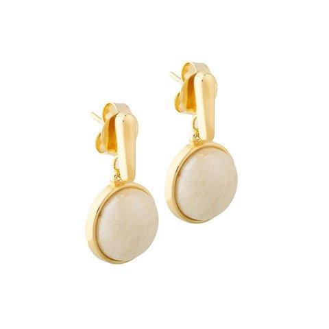 Серьги pearl amazonite beige A1995.12 BR/G