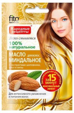 Масло для волос Fito Косметик Народные рецепты Миндальное 20 мл