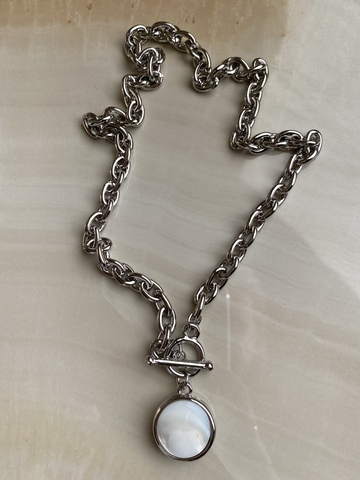 Колье Тараина, серебряный цвет