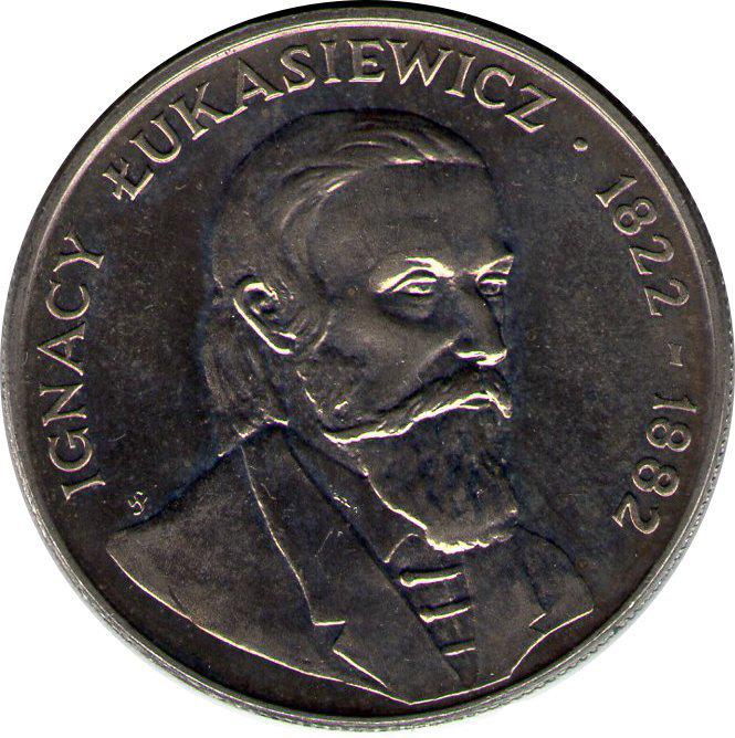 50 злотых. Игнатий Лукасевич. 1983 год. Польша. UNC