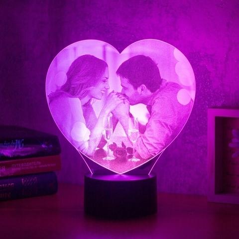 Фото-светильник в форме сердца