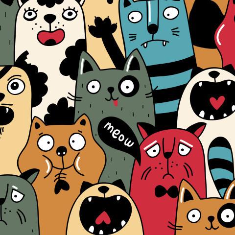 Толпа котов