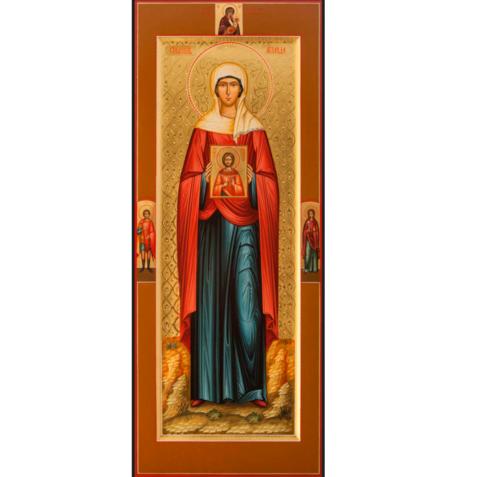 Икона святая Аглаида на дереве на левкасе с иконой святого Вонифатия мастерская Иконный Дом