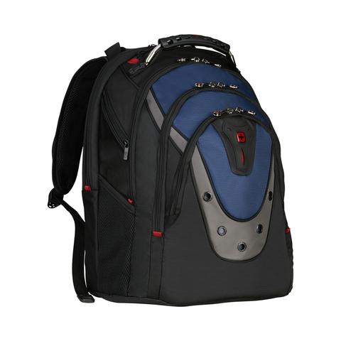 Городской рюкзак чёрно-синий 23 л WENGER Ibex 600638