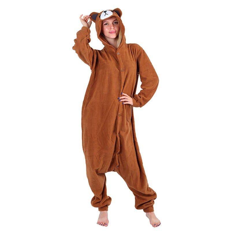 Плюшевые пижамы Коричневый Медведь взрослый 4839.970.jpg