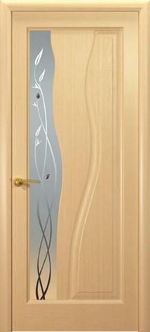 Дверь Гольфстрим new (беленый дуб, остекленная шпонированная), фабрика Океан