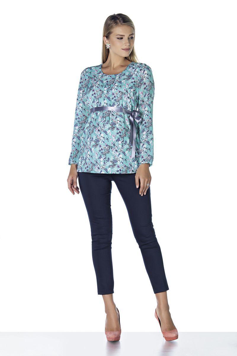 Блузка для беременных 07879 зеленый