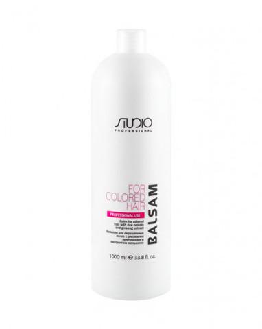 Бальзам для окрашенных волос с рисовыми протеинами и экстрактом женьшеня Kapous Studio 1000 мл