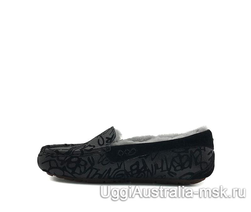 UGG Moccasins Ansley Graffiti Grey