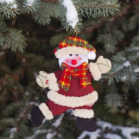 Украшение новогоднее ёлочное Snowman текстил.