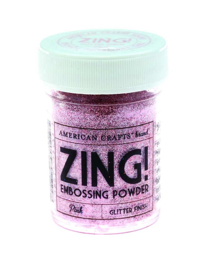 Пудра для эмбоссинга ZING! Pink Glitter