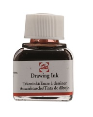 Тушь DRAWING INK банка 11 мл цв.№411, сиена жжёная