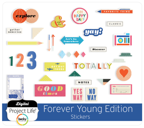 Набор чипборда  Forever young для Project Life