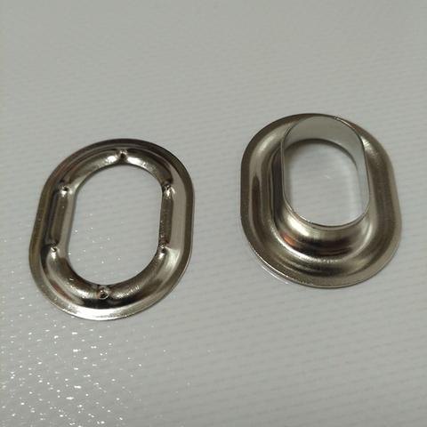 Люверс овальный 22,5 х 13,5 никелированная латунь