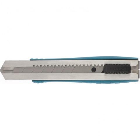 Нож 195 мм, металлический корпус, выдвижное сегментное лезвие 25 мм (SK-5), металлическая направляющая, клипса для ремня Gross