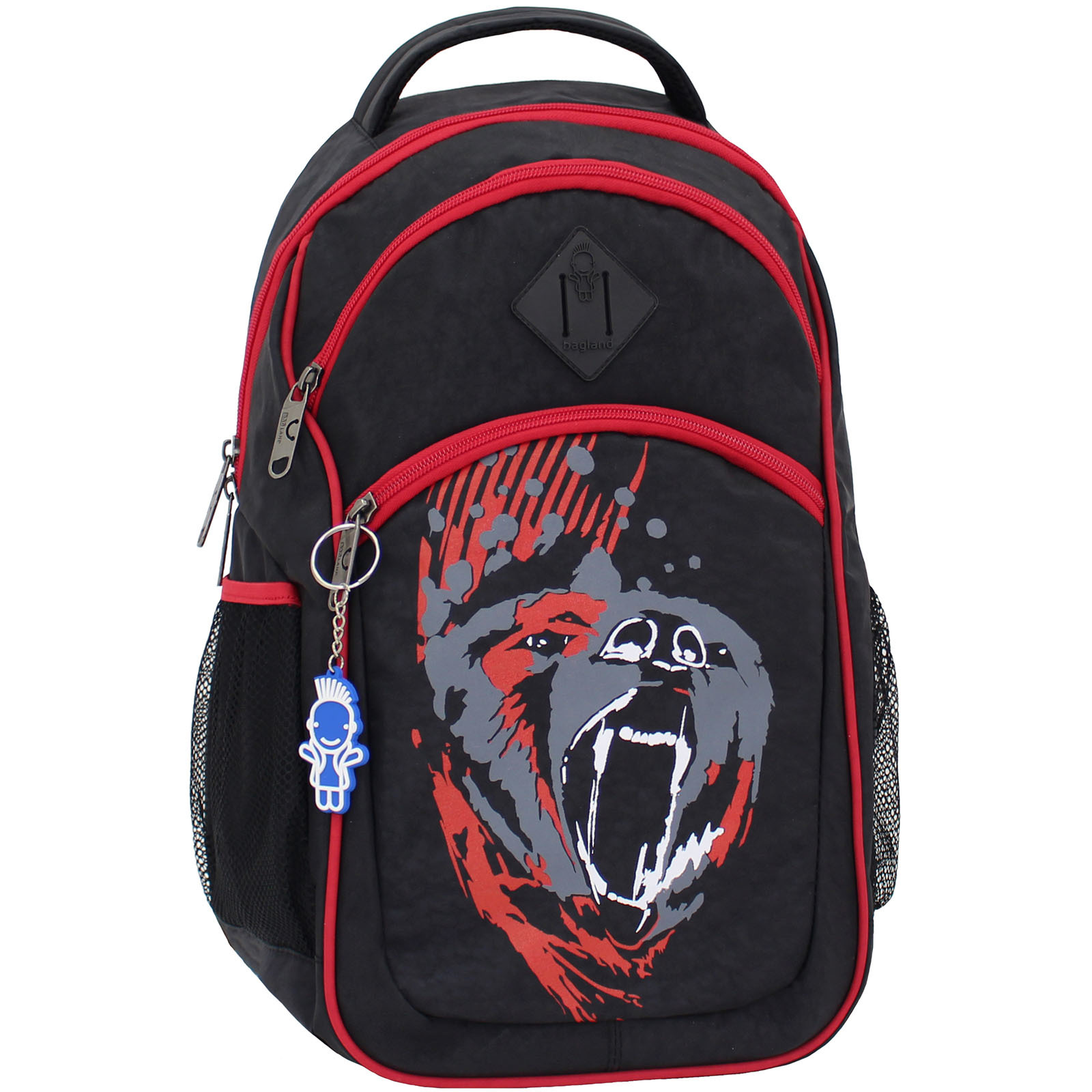 Рюкзак Bagland Лик 21 л. Чёрный/красный (0055770) фото 1