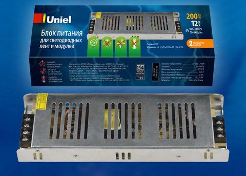 UET-VAS-200A20 12V IP20 Блок питания, 200Вт. Металлический корпус. TM Uniel