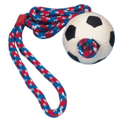 """Trixiе 3307 Игрушка д/собак """"мяч футбольный на веревке"""", мягкая резина ф6см*100см"""