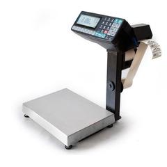 Весы с печатью этикеток Масса-К MK-15.2-RP10-1, 15кг, 2-5гр, 336x240, со стойкой, с подмоткой этикеток