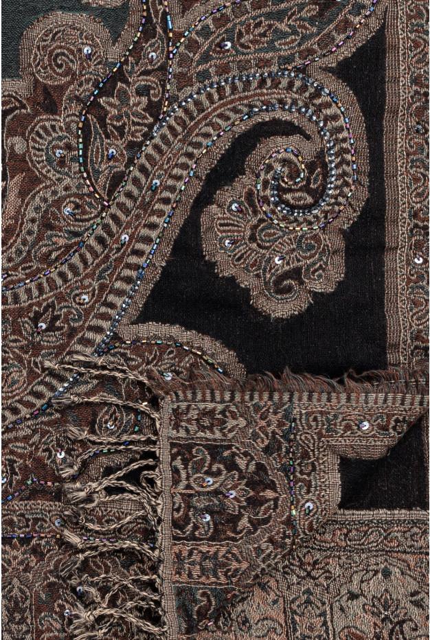 NERINA - Шарф принтованный из шерсти и бисера