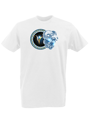 Футболка с принтом Знаки Зодиака, Овен (Гороскоп, horoscope) белая 0005