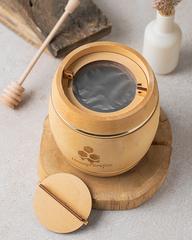 Деревянный бочонок с донниковым мёдом HoneyForYou