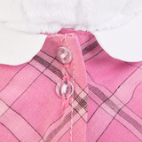 Кошечка Ли-Ли в розовом платье с серой сумочкой