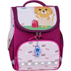 Рюкзак школьный каркасный с фонариками Bagland Успех 12 л. малиновый 434 (00551703)