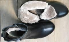 Полусапожки с мехом женские зимние G.U.E.R.O G019 8556 Black.