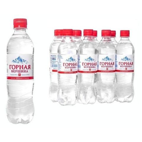 Вода минеральная Горная вершина газированная 0.5 л (12 штук в упаковке)