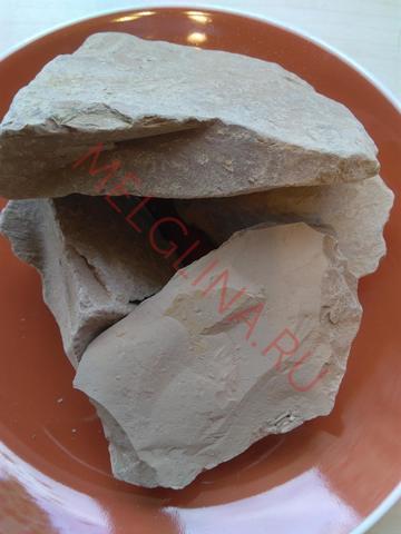 Глина узбекская Коричневая соленая