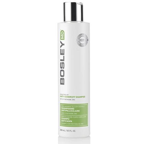 Bosley MD Scalp Therapy: Шампунь против перхоти для волос и кожи головы (Anti Dandruff Shampoo), 250мл/740мл