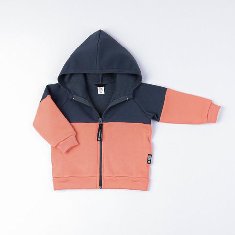 Color block warm sweatshirt - Graphite/Coral