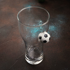 Пивной бокал «Pub Football» крафт , 500 мл, фото 2