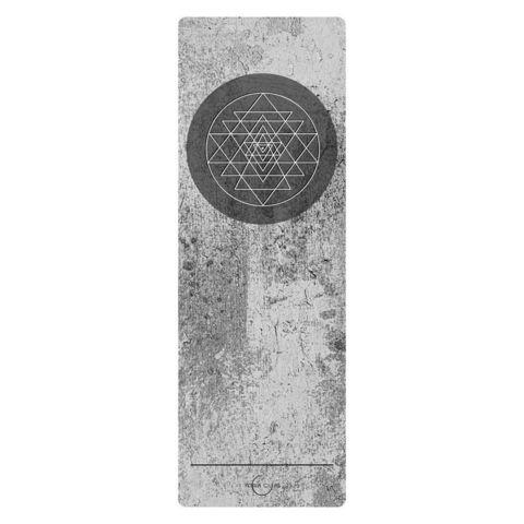 Коврик для йоги Sri Yantra YC 183*61*0,1-0,3 см из  микрофибры и каучука