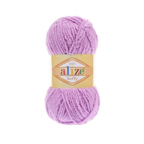 Пряжа Alize Softy нежный сиреневый 672