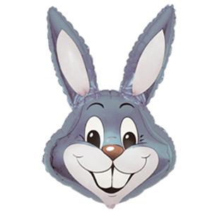 Фольгированный шар Кролик серый 100 X 56см