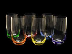 Набор из 6 стаканов цветное дно «Rainbow», фото 1