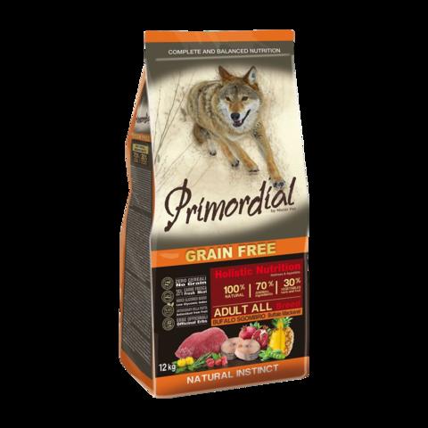 Primordial Сухой корм для собак с буйволом и скумбрией (беззерновой)