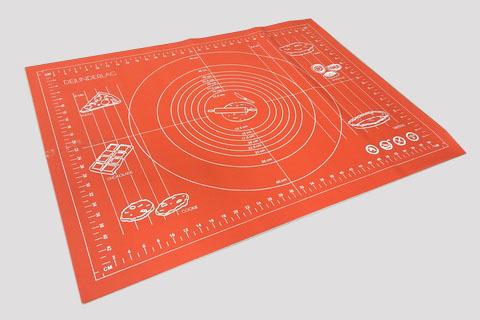 Коврик силиконовый с разметкой, 70х50 см (цвет микс)