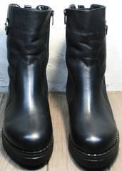 Зимние ботинки без шнурков женские G.U.E.R.O G019 8556 Black.